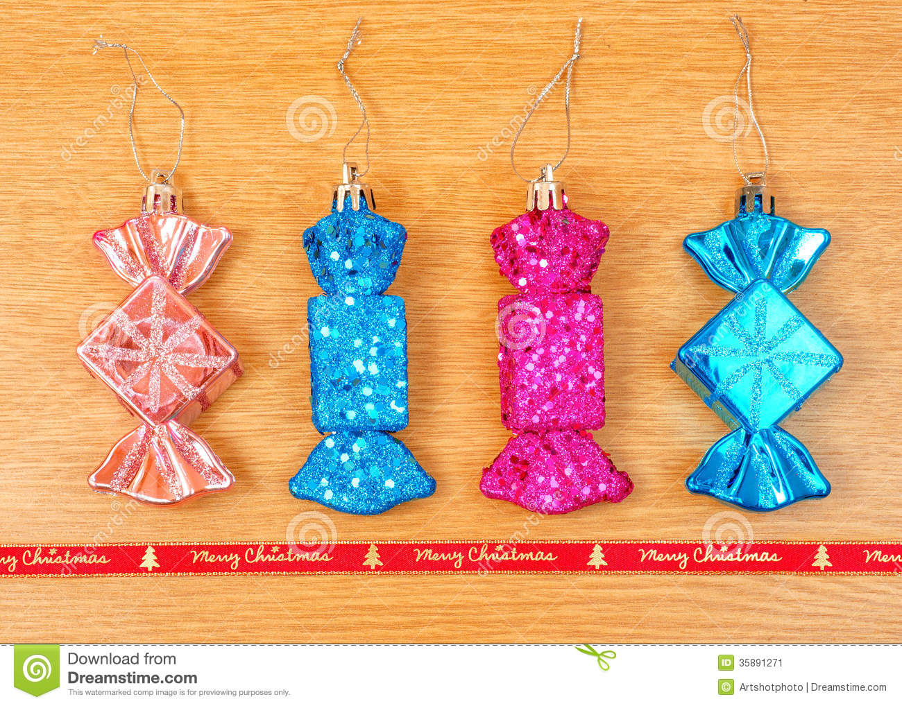 Candy Decorations Candy Shaped Christmas Decorations Stock Image Image 35891271