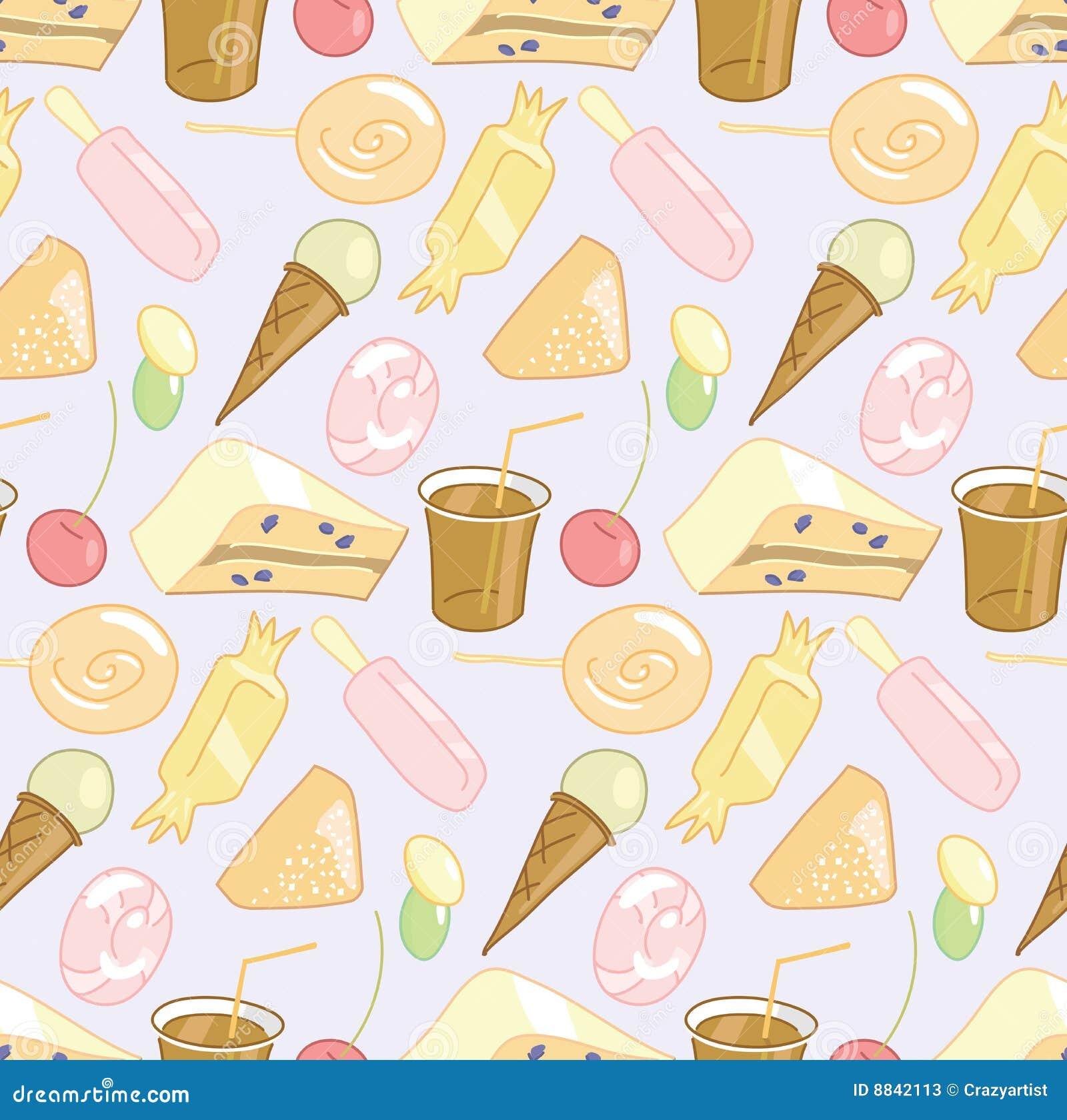 Candy shop seamless pattern