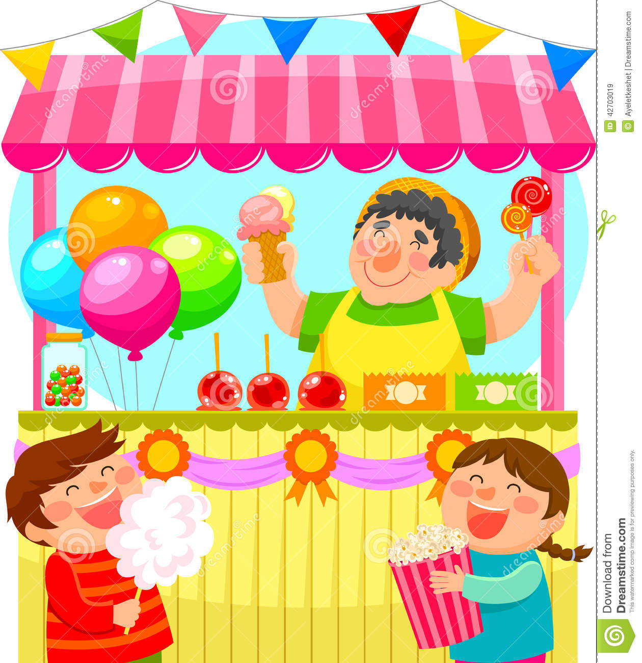 Candy Stall Stock Illustrations – 237 Candy Stall Stock ...