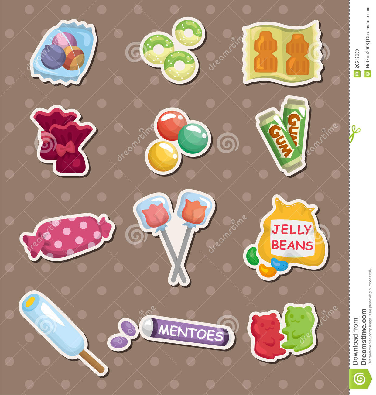 Candy stickers