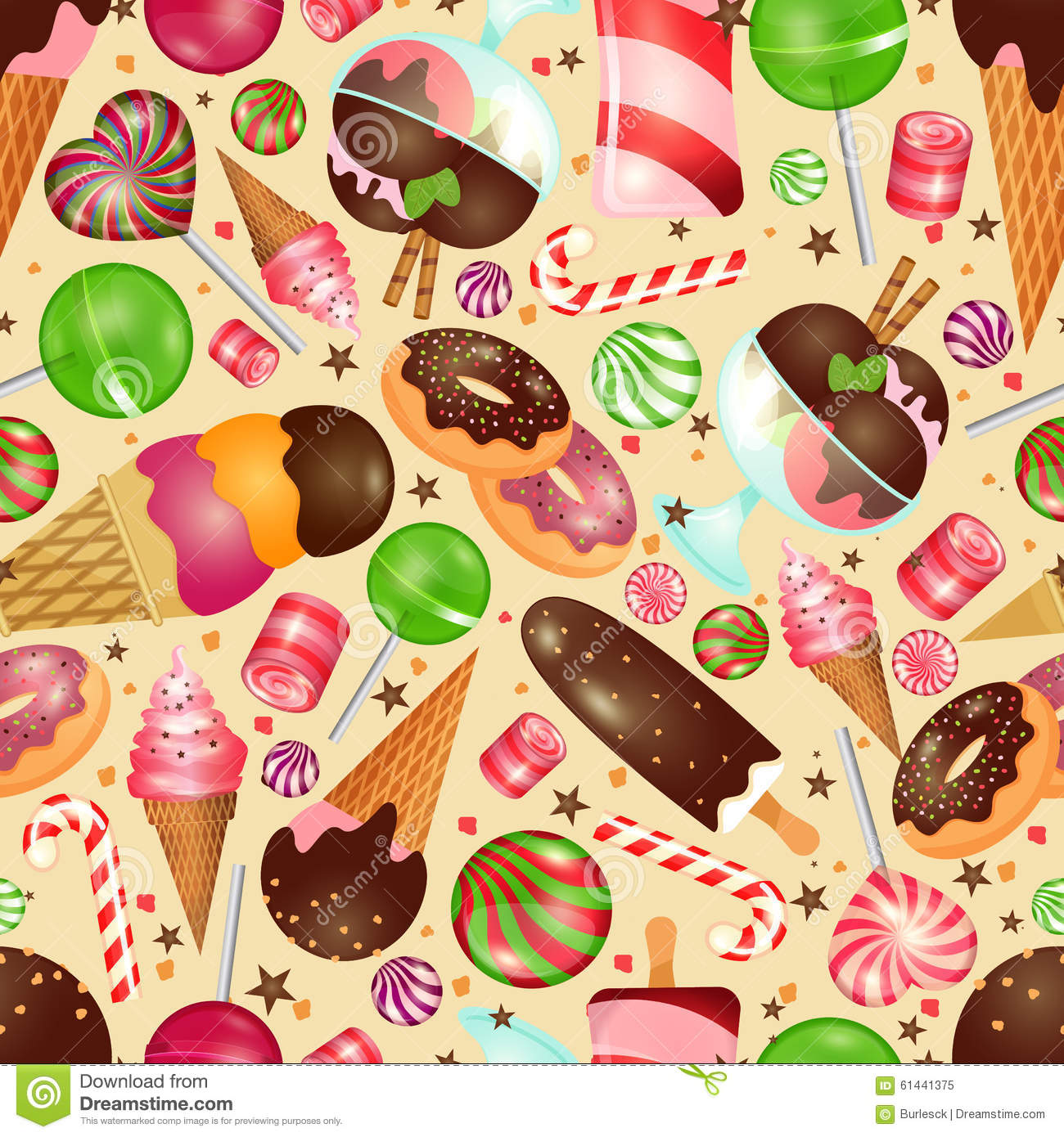 candy and sweets background stock vector illustration