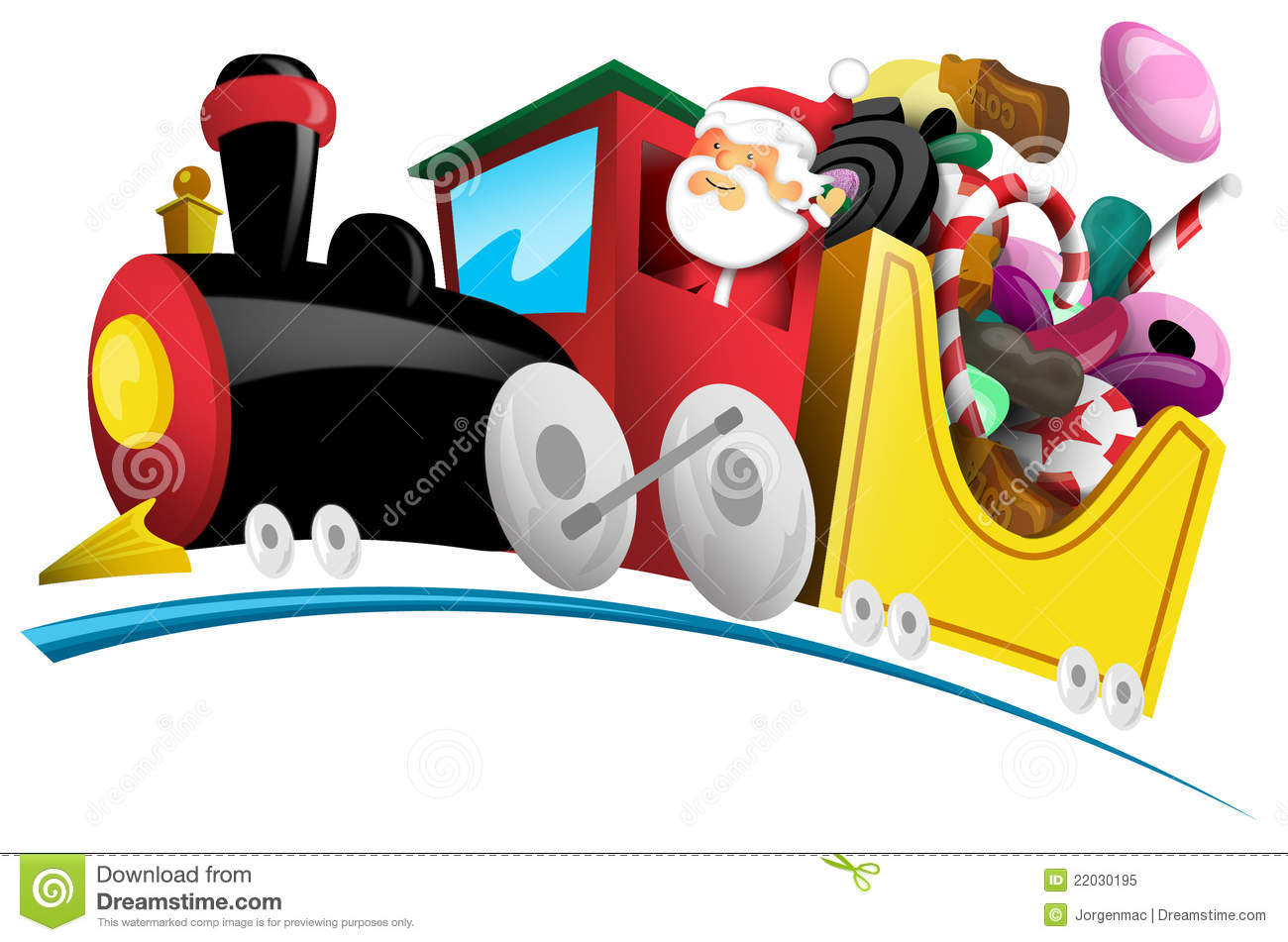 Christmas Candy Train.Candy Train Stock Illustration Illustration Of Collection