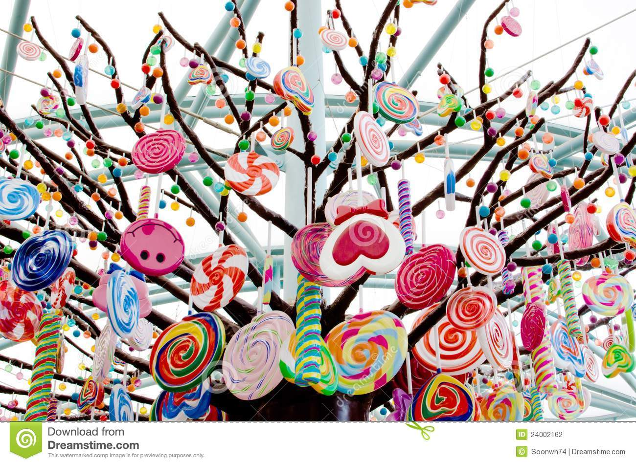 Candy Tree Stock Photo. Image Of Dessert, Lolly, Nutrition