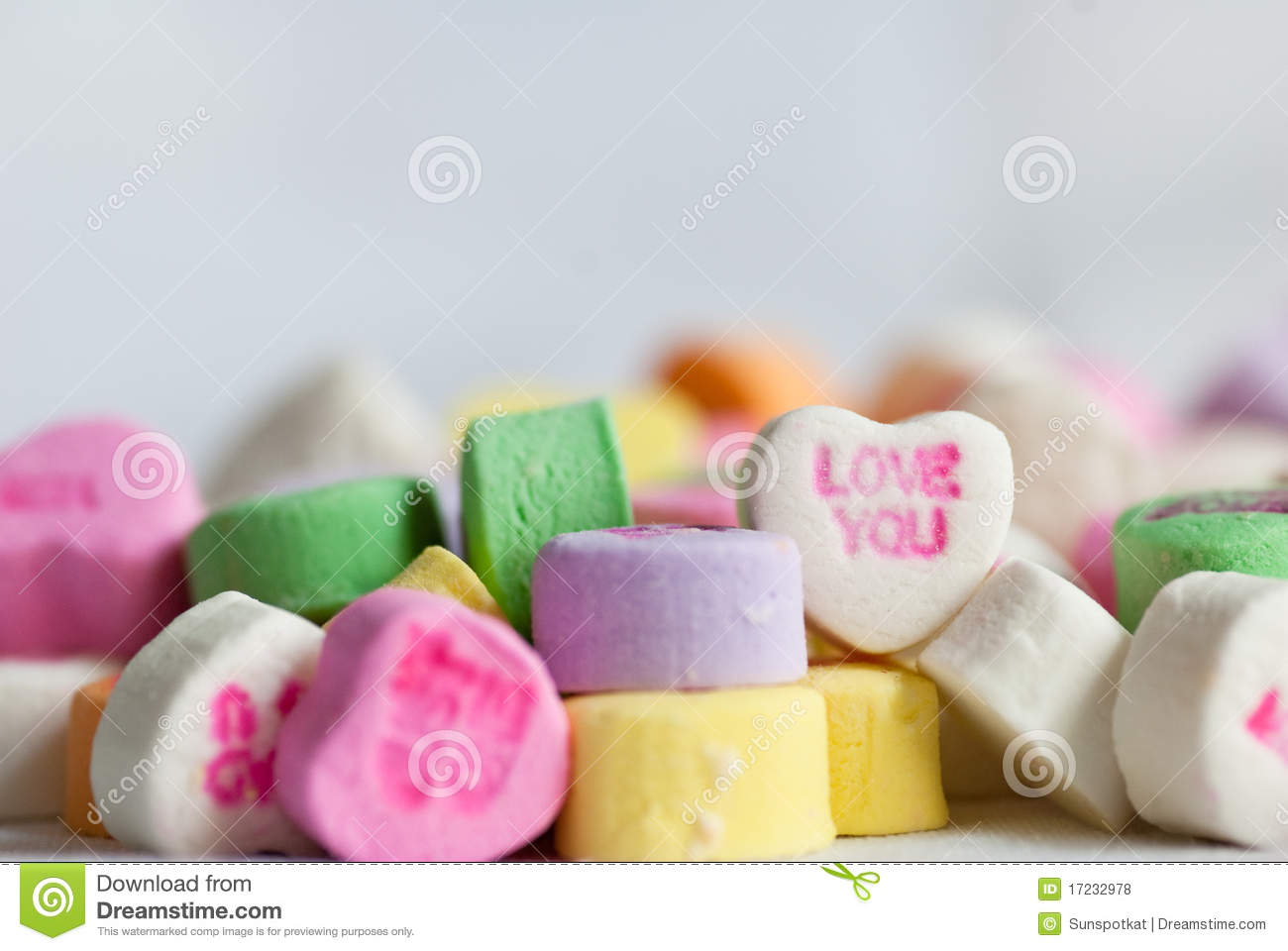 Candy Valentine Conversation Hearts Love Stock Photo Image Of