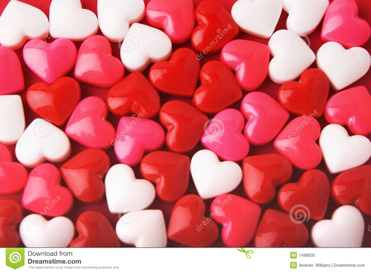 Candy Valentine Hearts Stock Photo - Image: 1488830