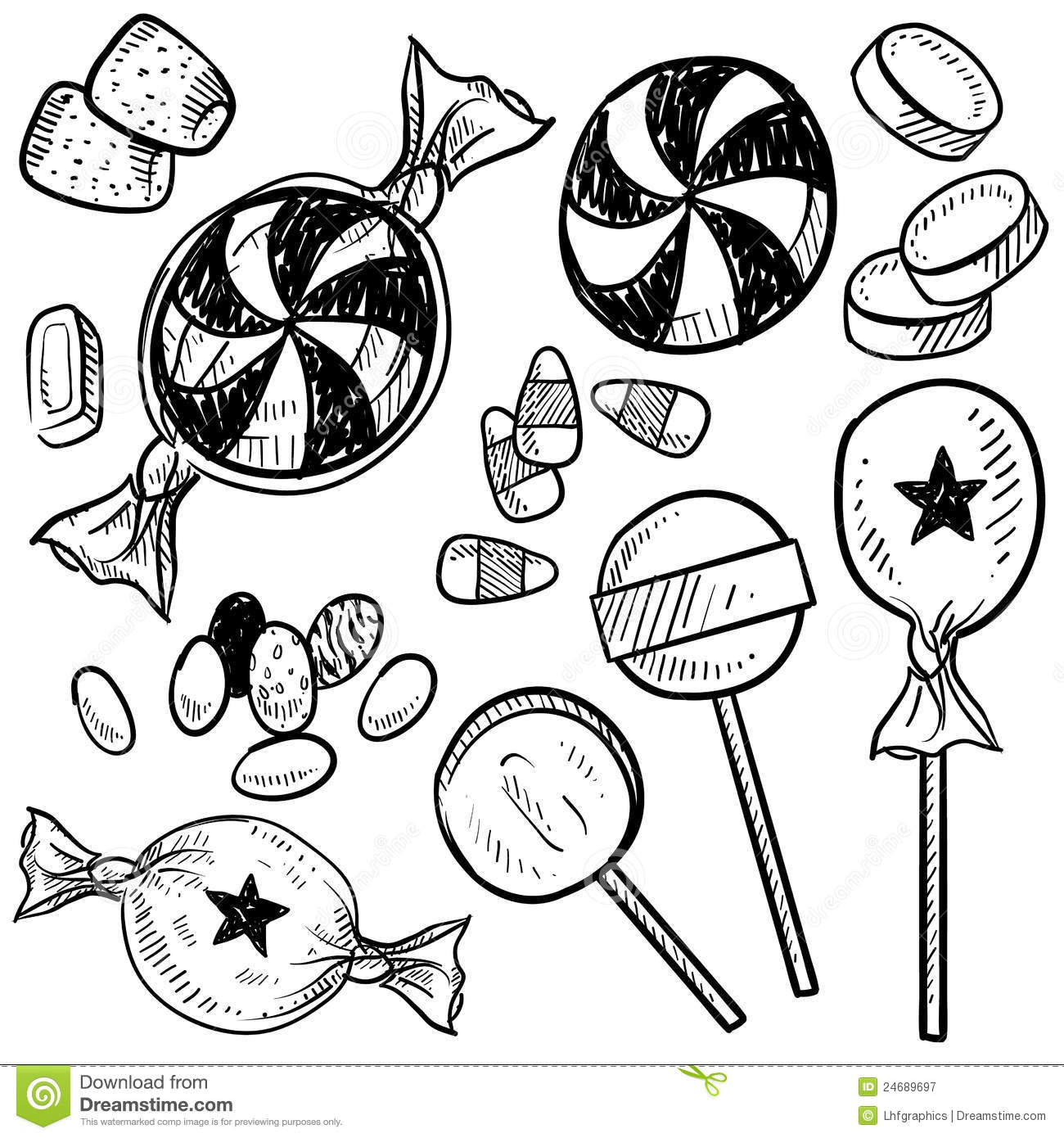 Candy Vector Sketch Stock Vector. Illustration Of Circle