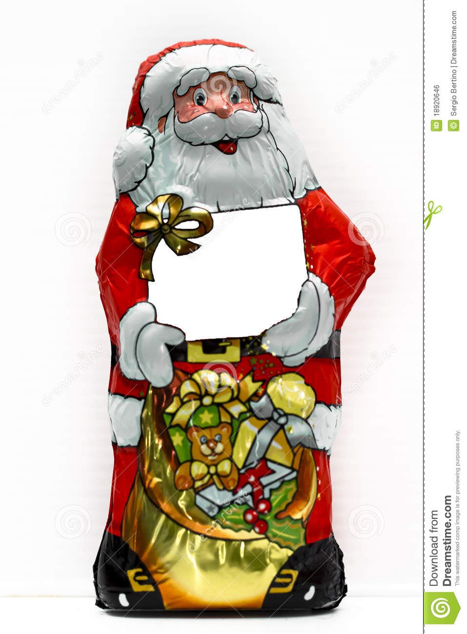 Candy wrapped in santa claus stock photo image