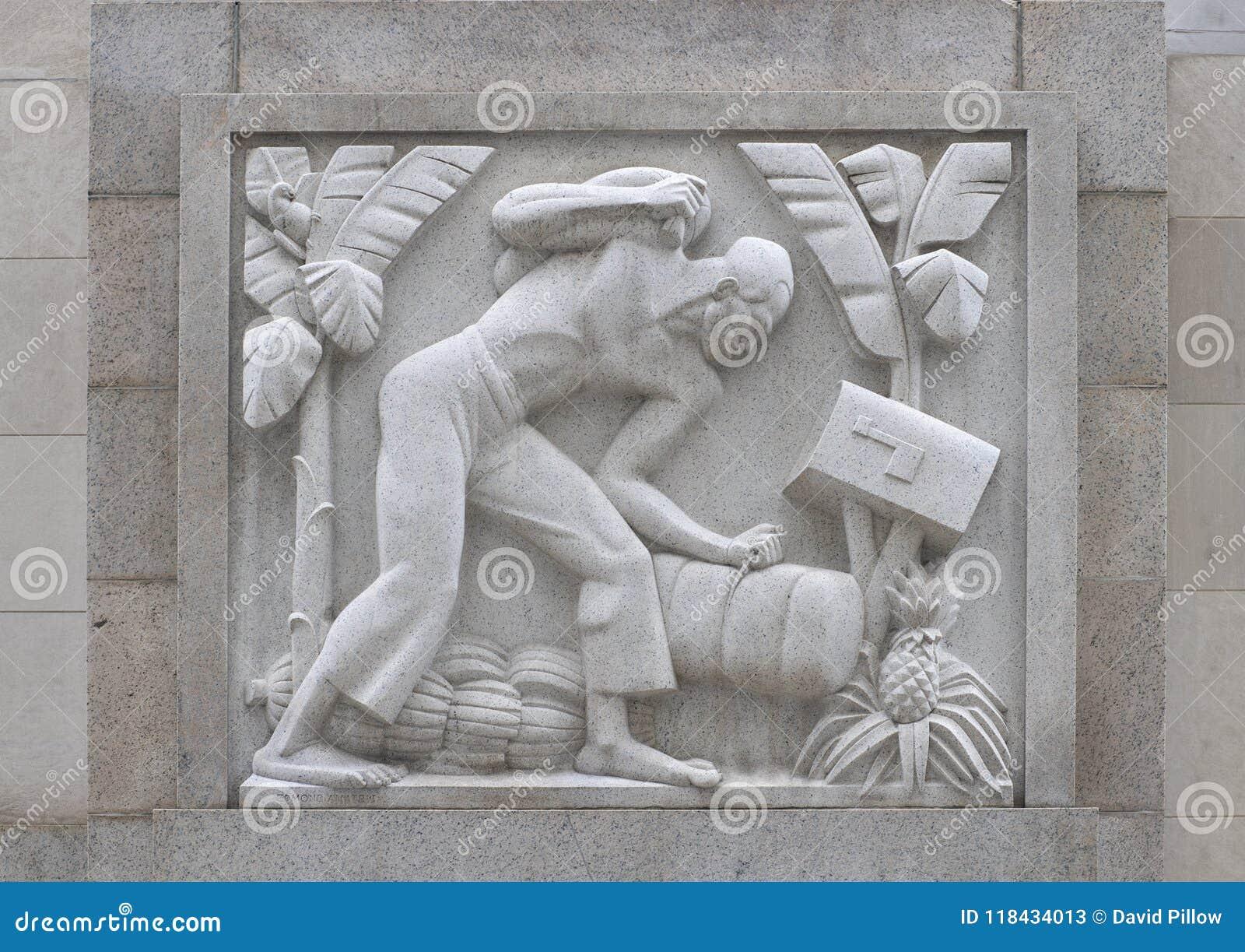 `-Cane Cutter ` av Edmond Amateis, Robert N C Säga nej till Sr Federal byggnad & stolpe - kontor