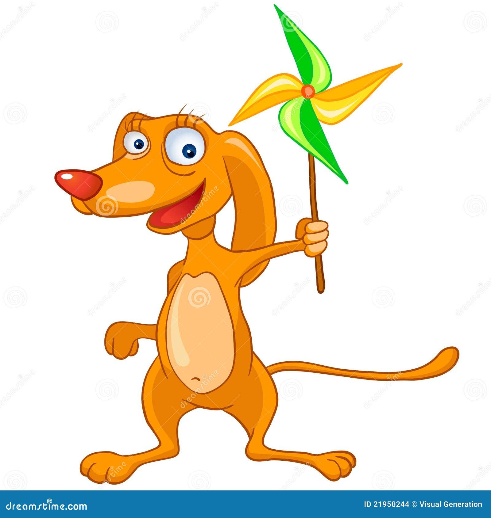 Cane del personaggio dei cartoni animati illustrazione - Immagini dei cartoni animati vegetariani ...