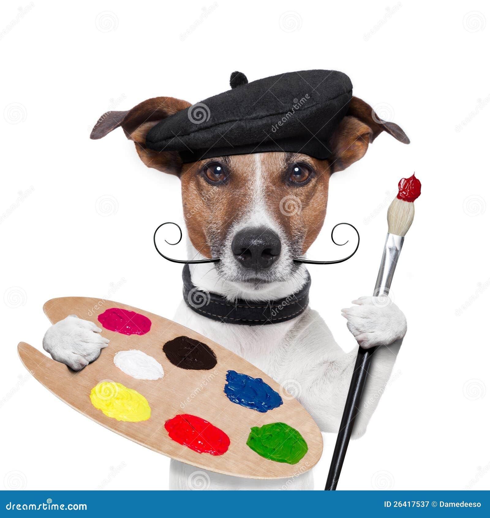 Cane dell artista del pittore