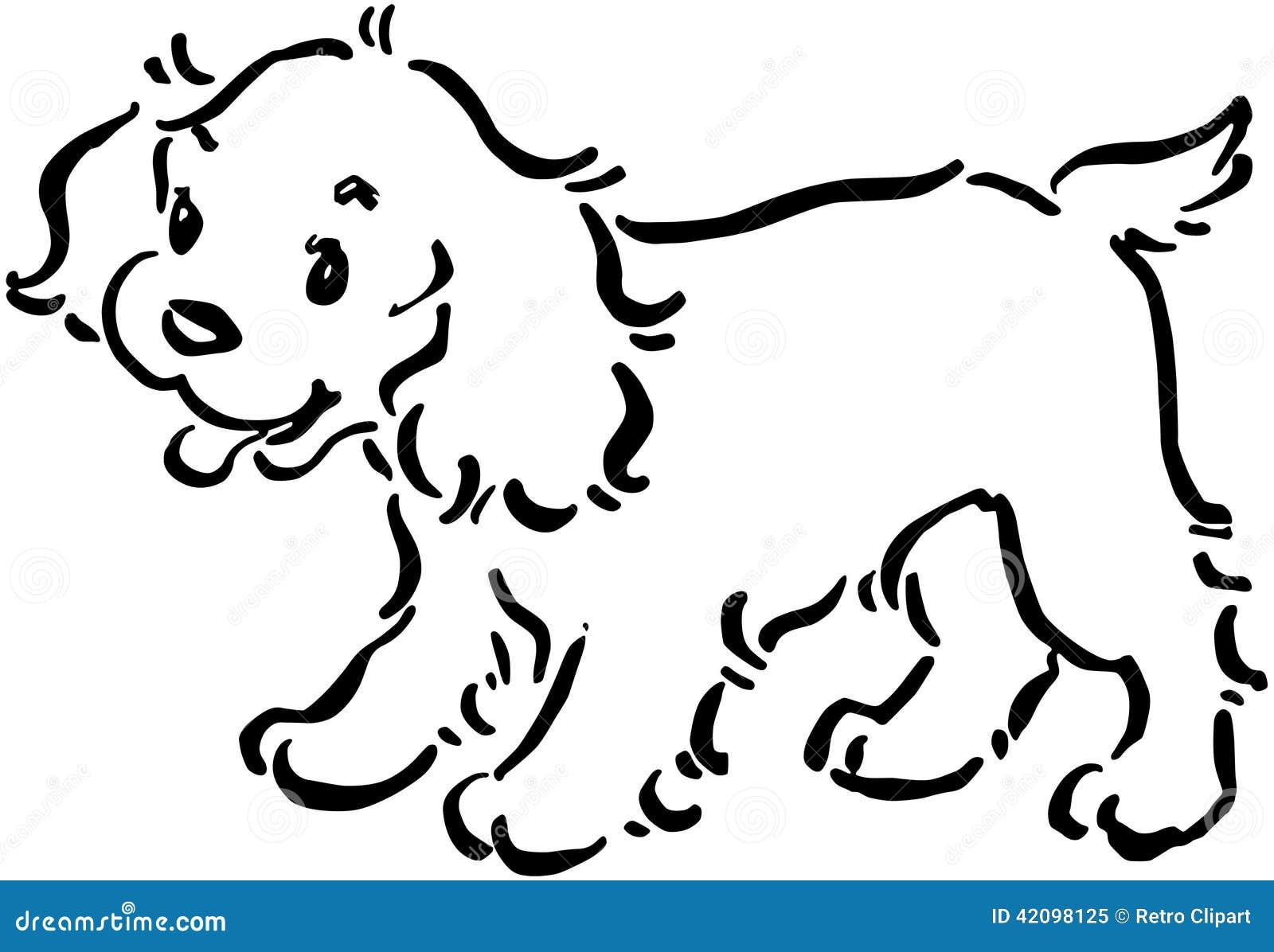 Cane di cucciolo sveglio illustrazione vettoriale - Cucciolo da colorare stampabili ...