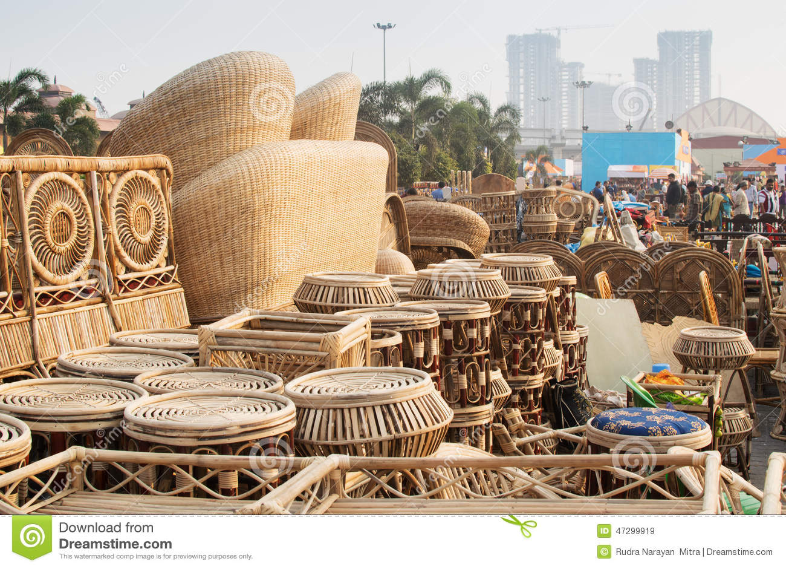 Cane Furnitures Indian Handicrafts Fair Kolkata Editorial Stock