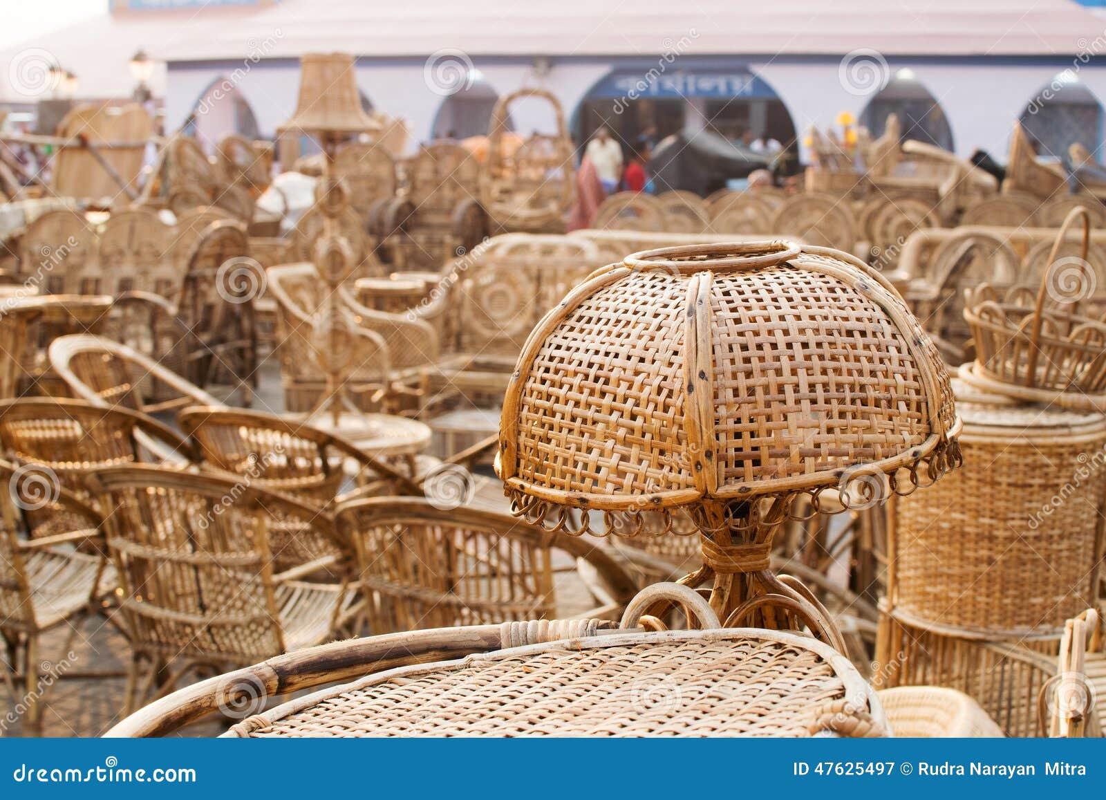 Cane Furnitures Indian Handicrafts Fair Editorial