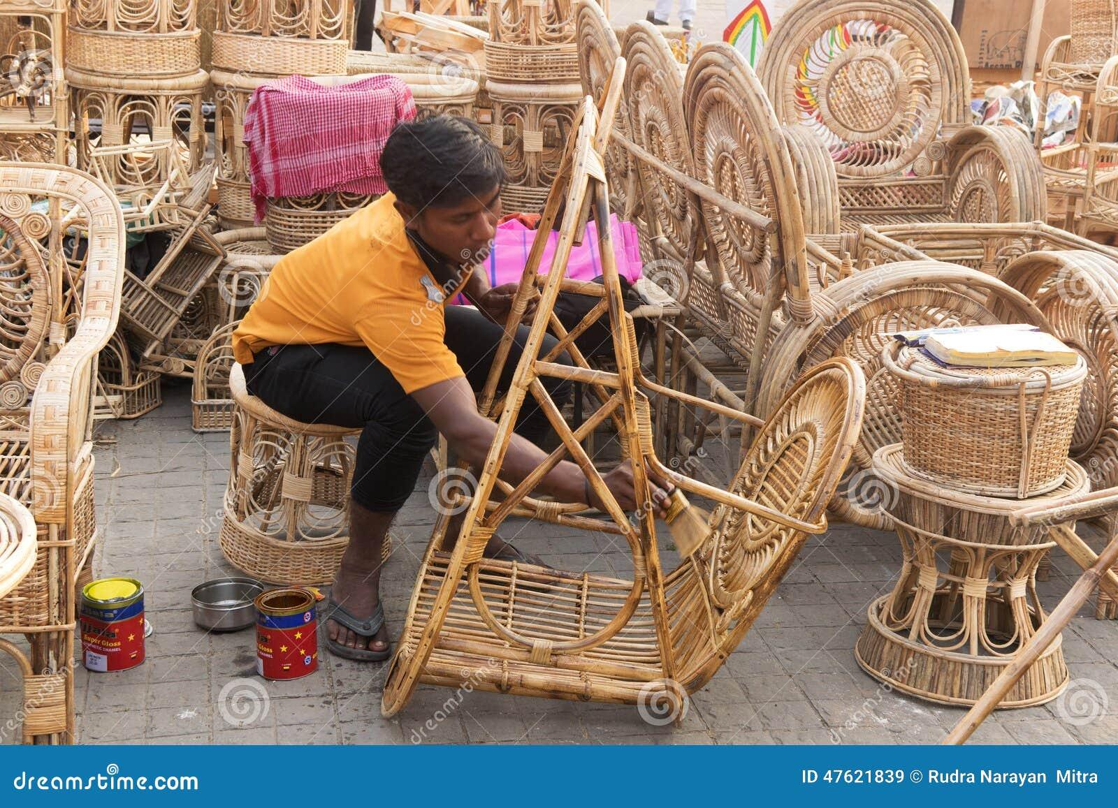 Cane Furnitures Indian Handicrafts Fair Editorial Stock