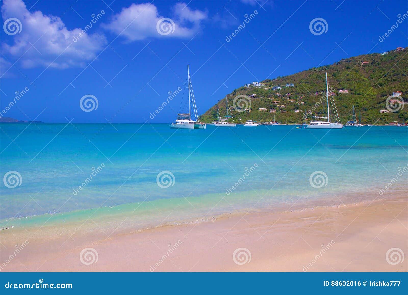 Cane Garden Bay en Tortola, del Caribe