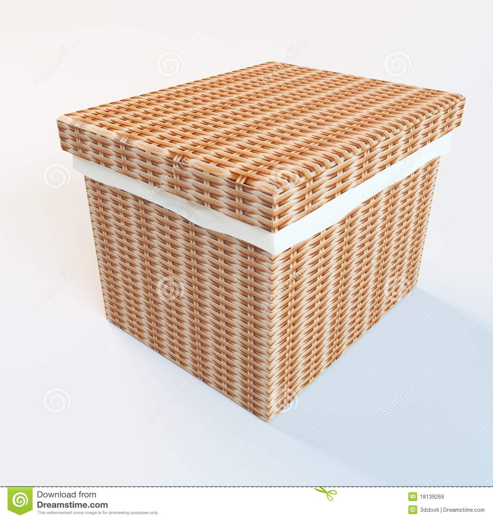 Cane laundry hamper royalty free stock images image 18139269 - Cane laundry hamper ...
