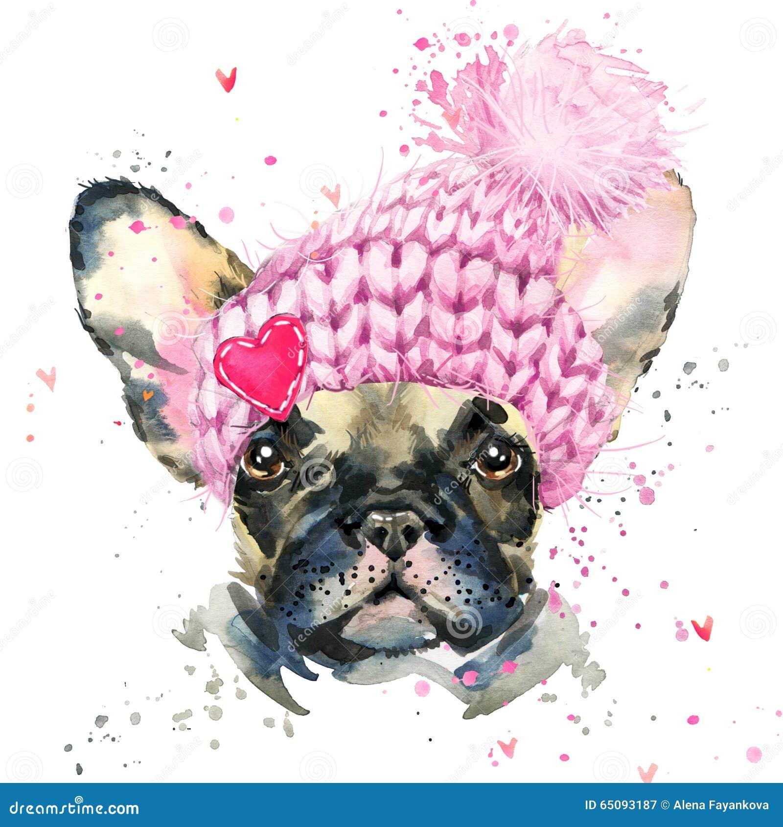 Cane sveglio Illustrazione del cucciolo di cane dell acquerello