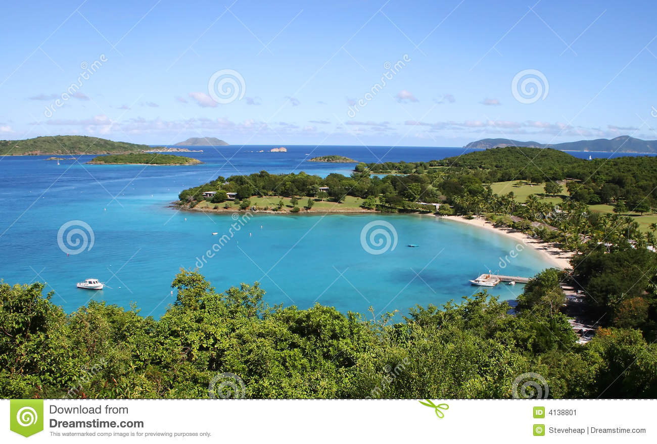 Caneel Bay on the island of St John