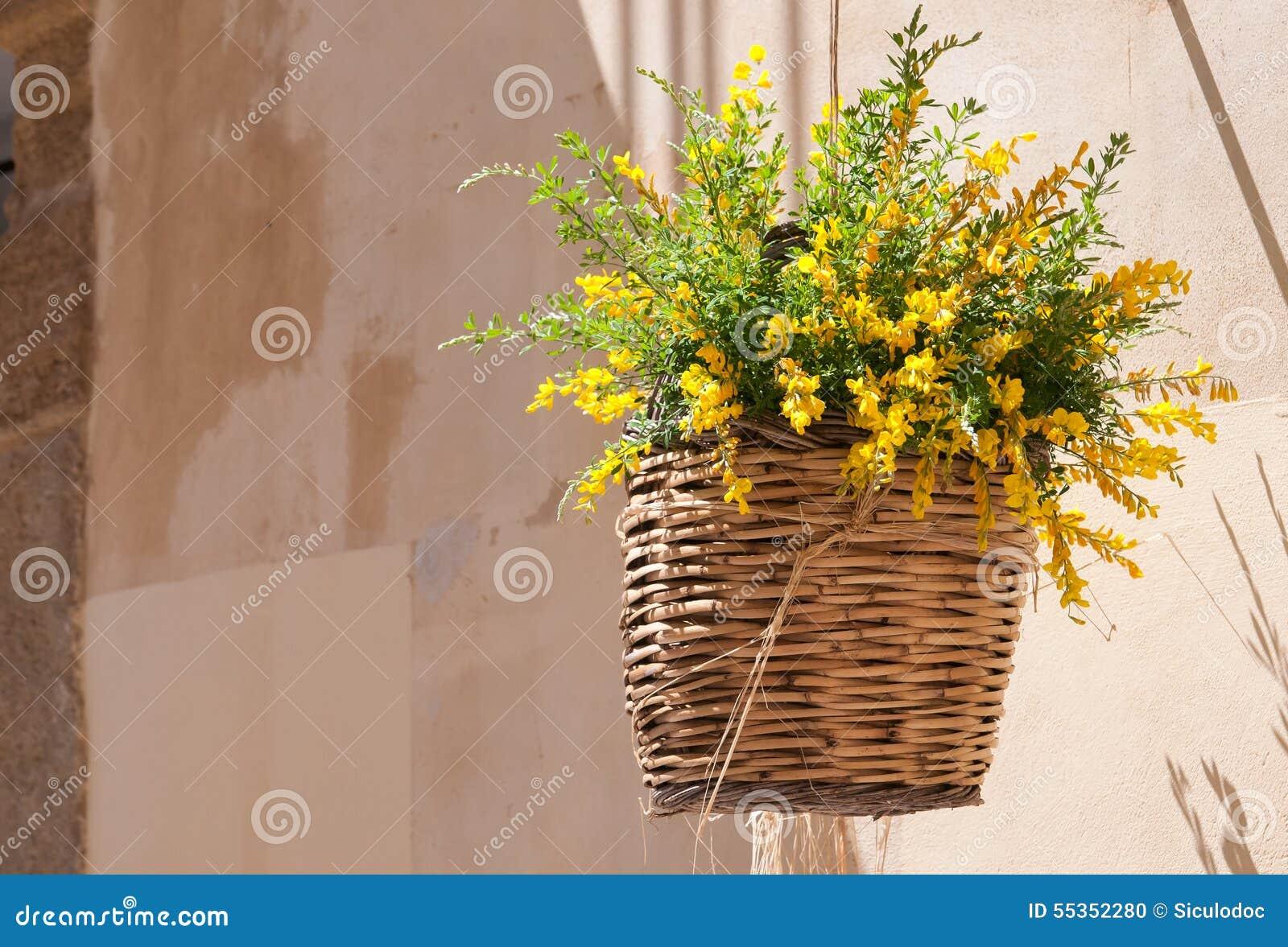 Canestro di vimini di Flowerd