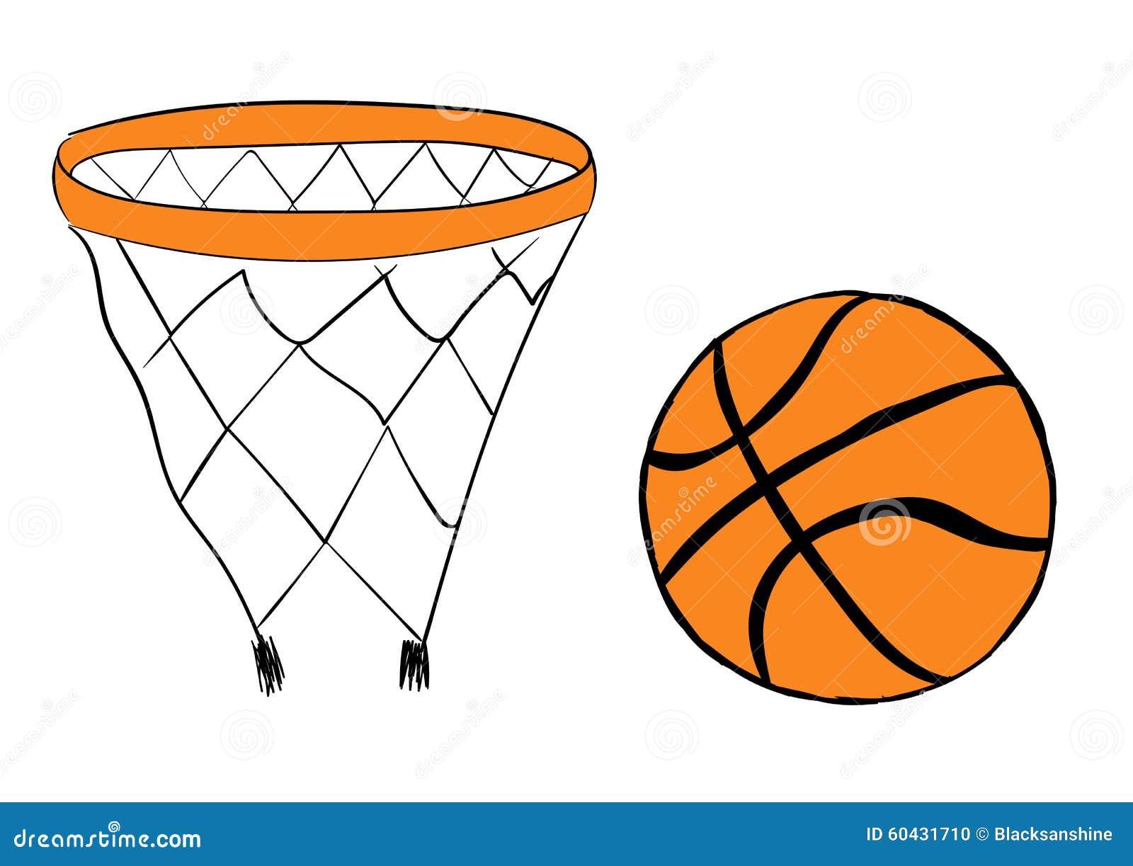 Canestro e palla di pallacanestro illustrazione vettoriale - Immagini stampabili di pallacanestro ...