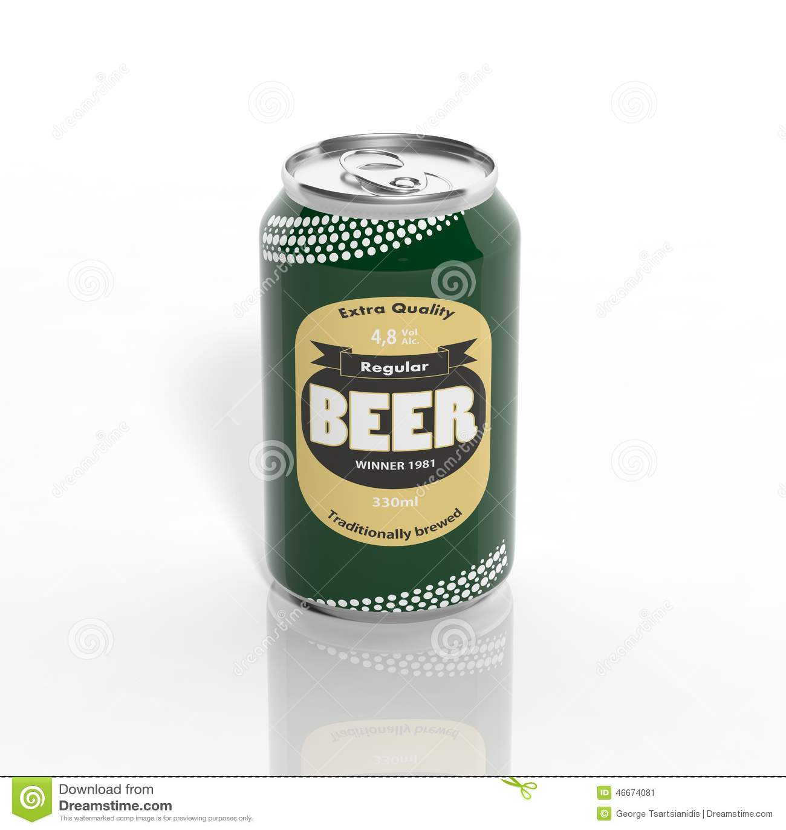 Canette de bière 3D