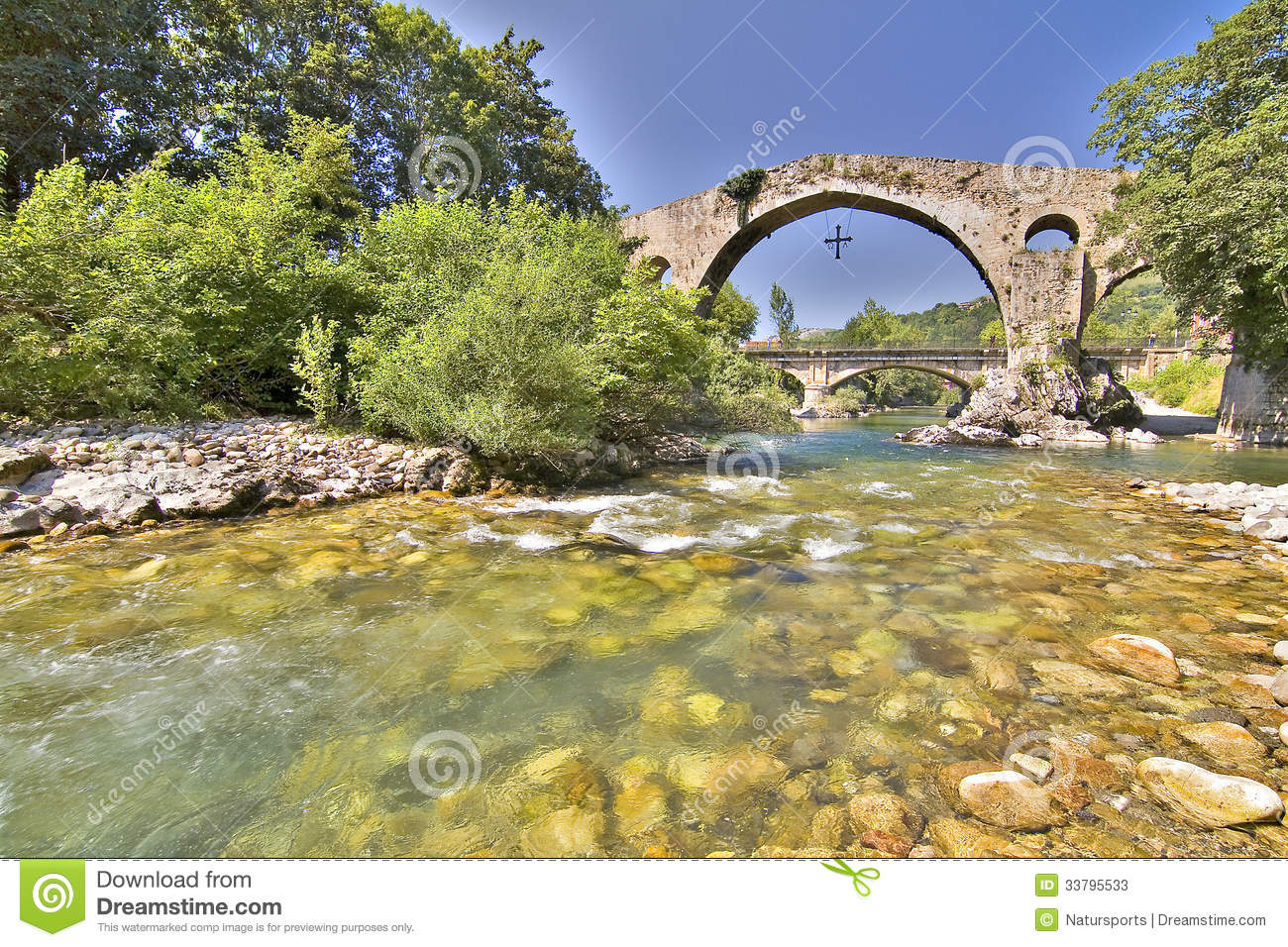 Cangas Spain  city photos gallery : Roman Bridge of Cangas de Onis, Asturias, Spain. HDR picture.