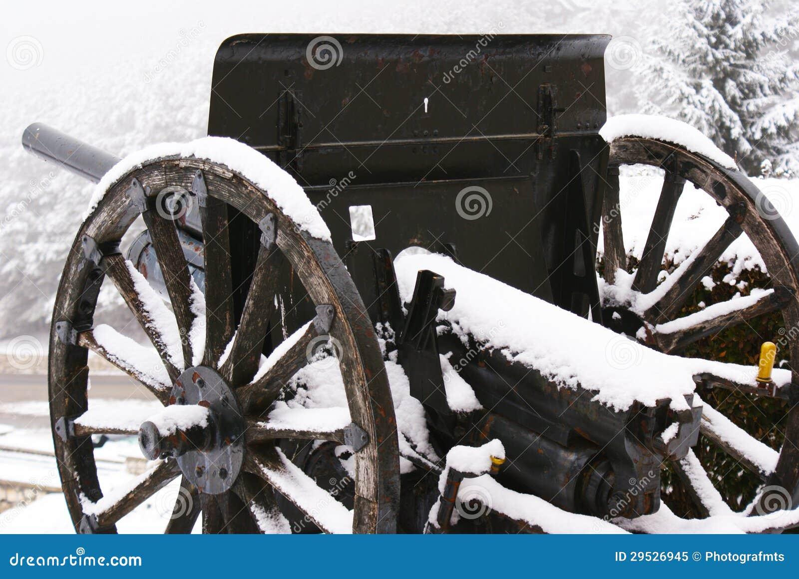 Canhão preto no inverno