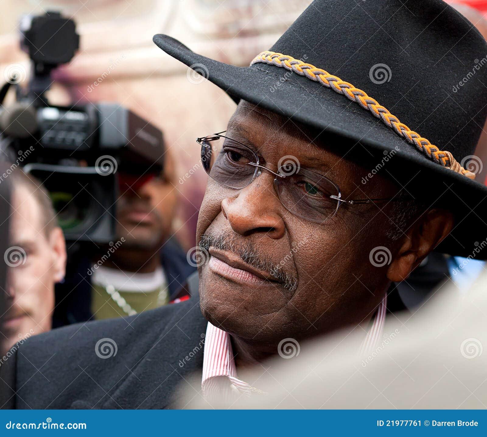 Canidate presidencial republicano Herman Cain