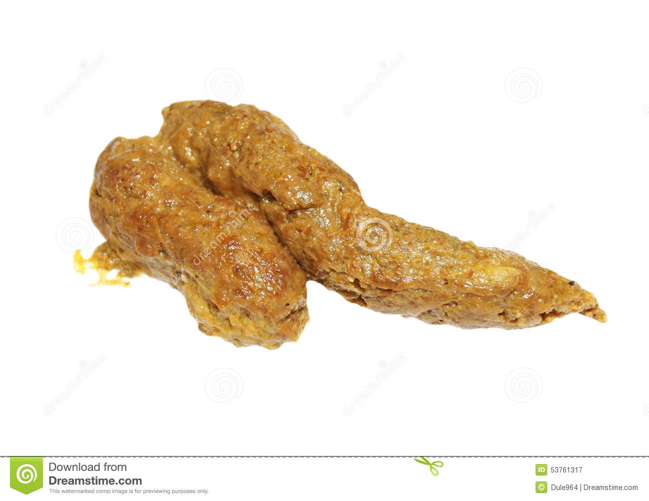 Canine Excrement Dog Poop On White Stock Photo Image