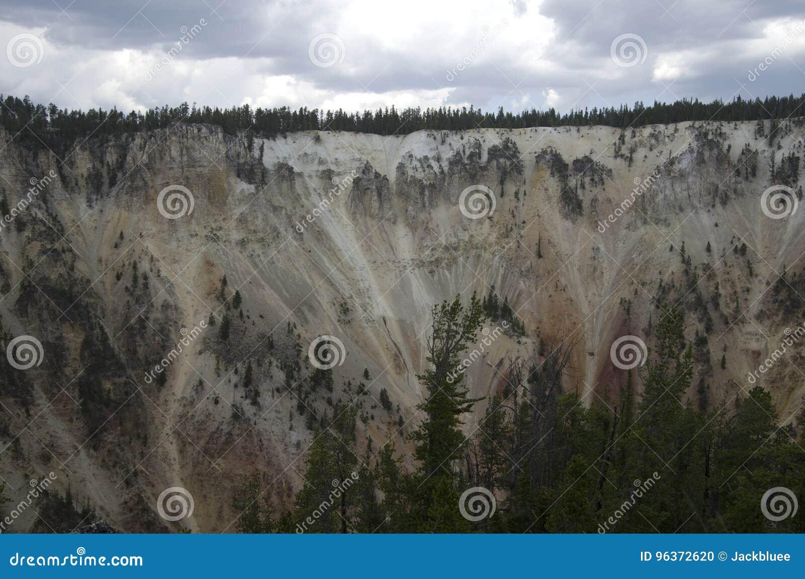 Canion van het Yellowstone de Nationale Park