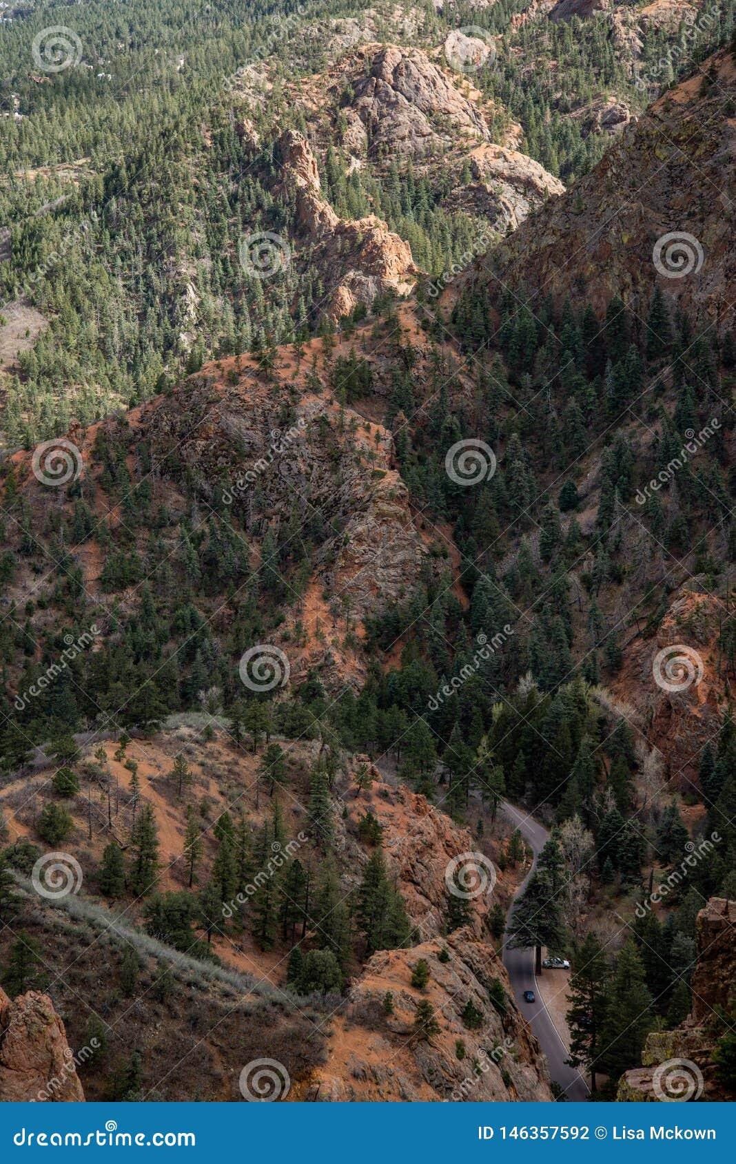 Canioncanon Colorado Springs de Noord- van Cheyenne