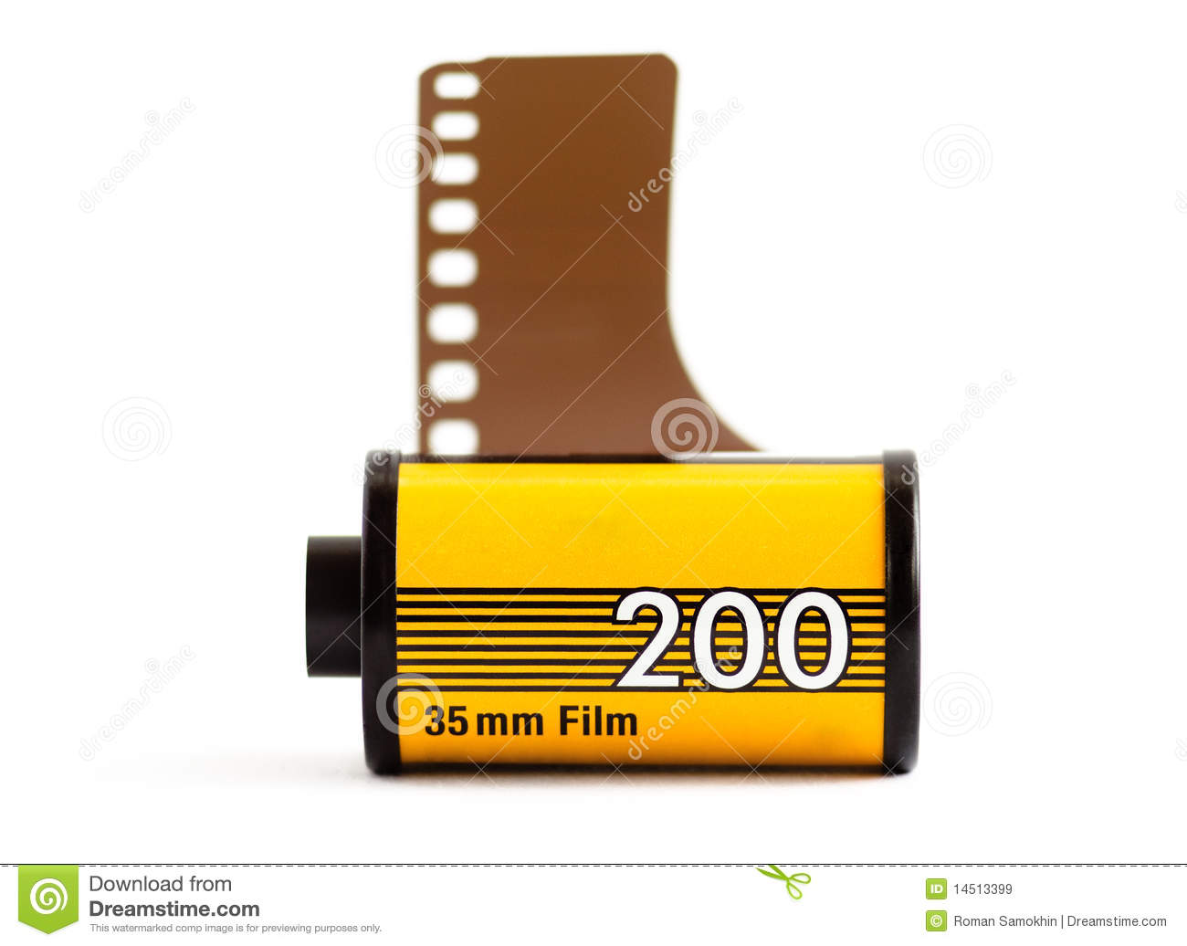 Canister of 35mm film stock image. Image of unexposed ...