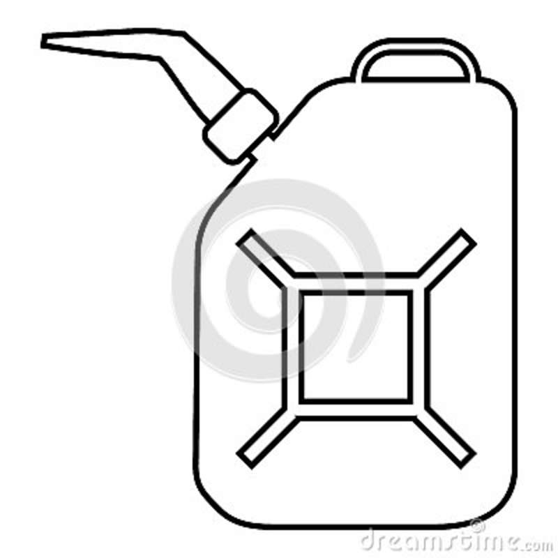 canister of gasoline icon vector illustration