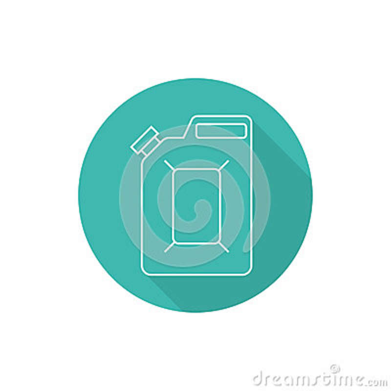Canister Under The Petrol Stock Vector Illustration Of Liquid