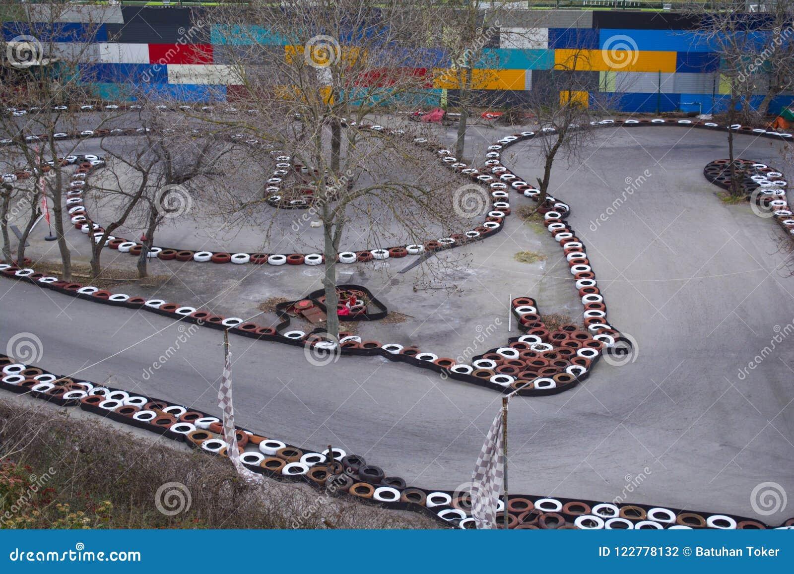 Caniveau de Gocart Voie d itinéraire de Karting