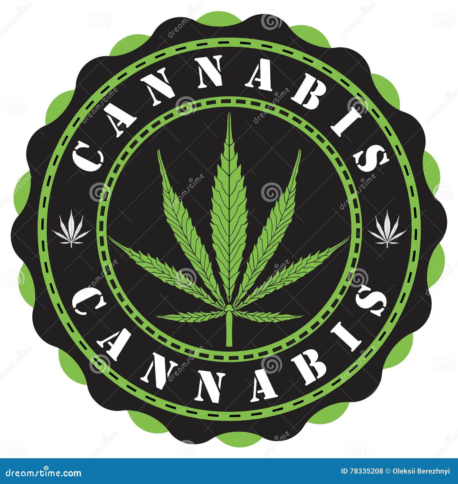 cannabis logo vector illustration cartoondealercom