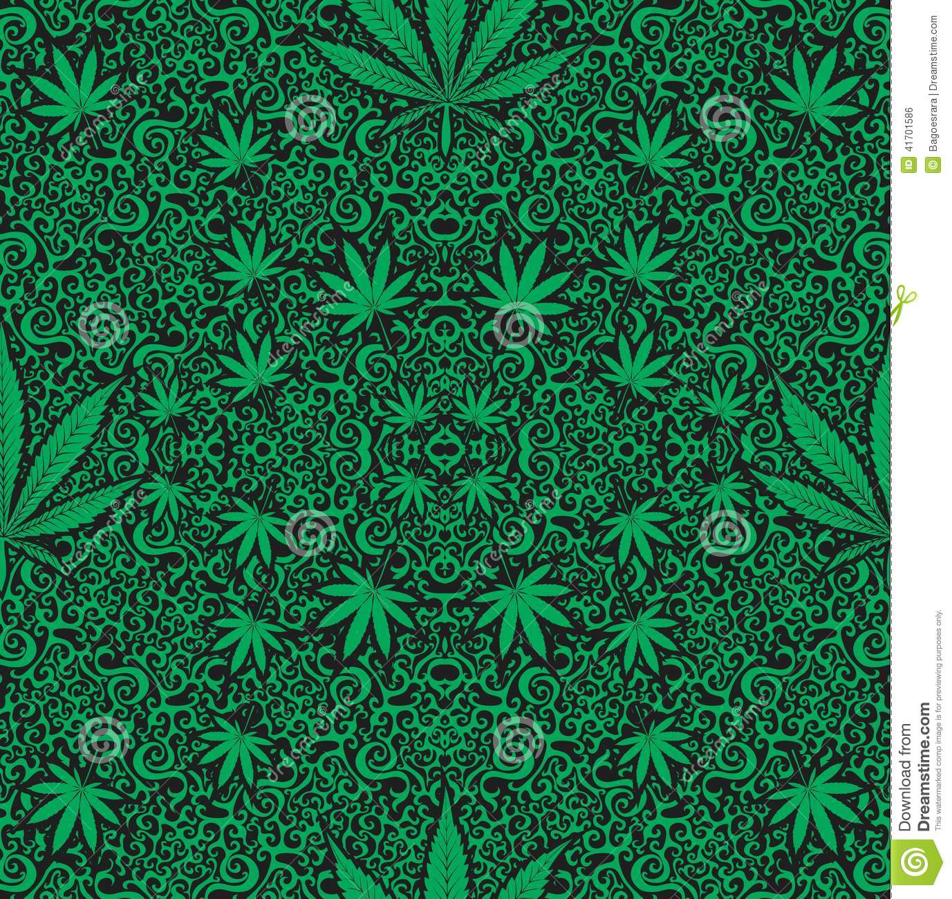 Cannabis seamless pattern stock illustration image of for Design patterns for pot painting