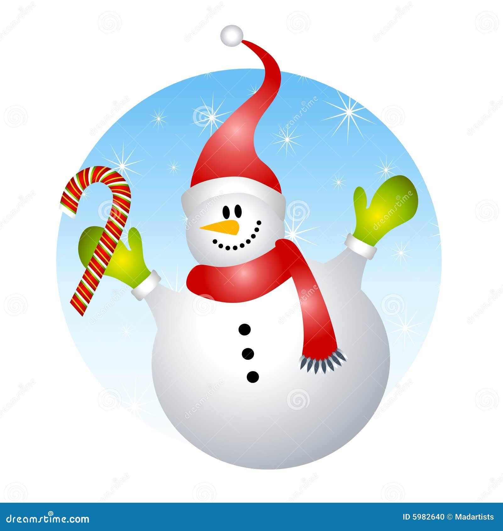 Canne de sucrerie de sourire de bonhomme de neige illustration stock illustration du clip - Clipart bonhomme de neige ...