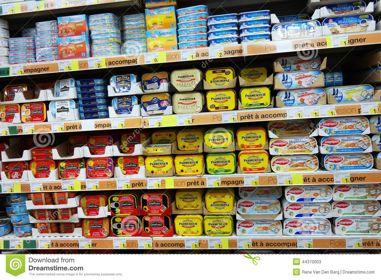 Canned Fish Editorial Stock Photo Image 44370003