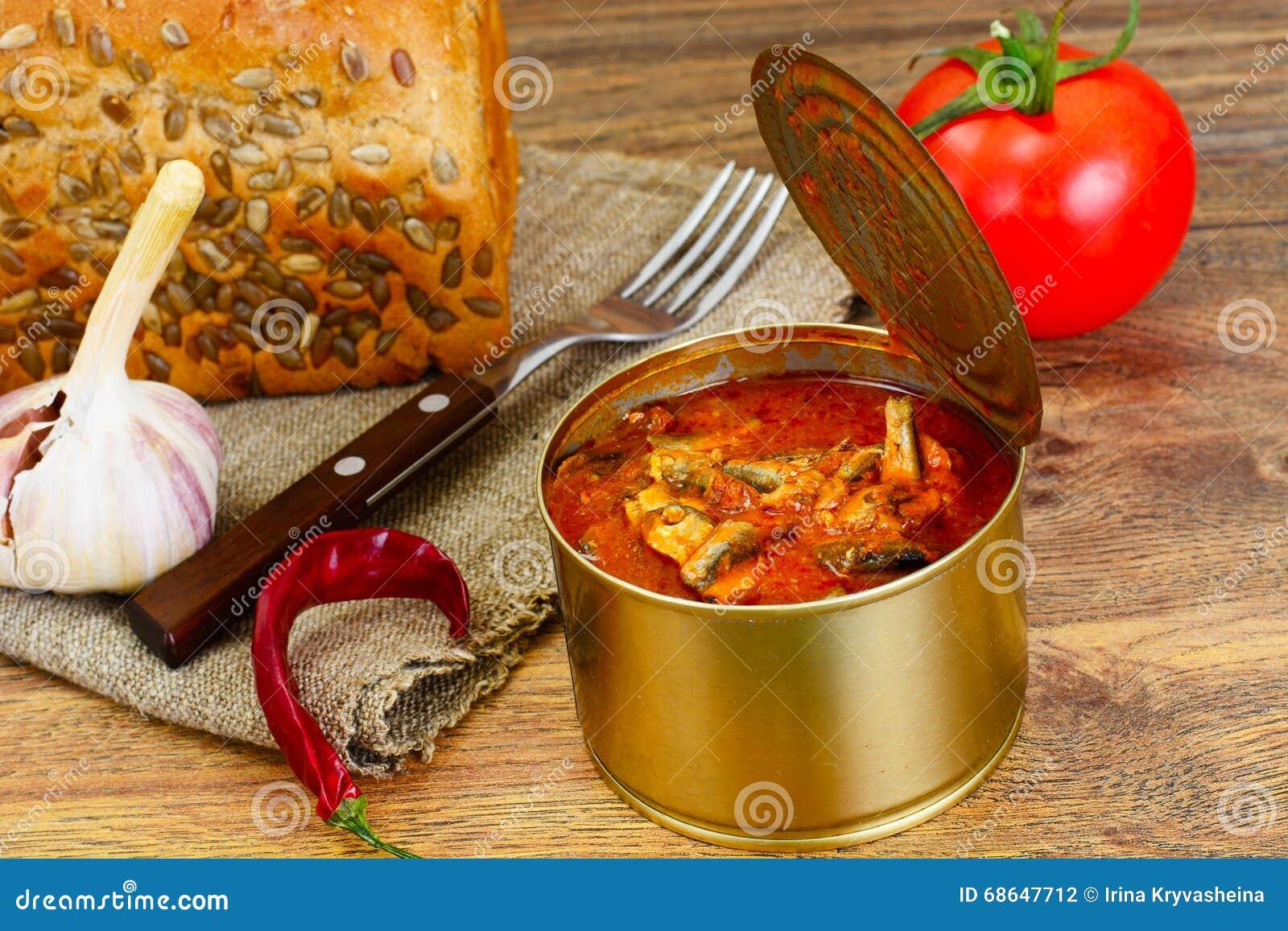 Fish sprat soup in tomato sauce: a recipe 41