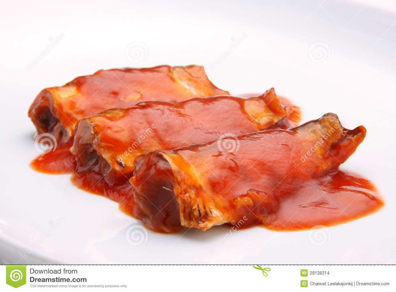 Canned Fish In Tomato Sauce Stock Images - Image: 29138314