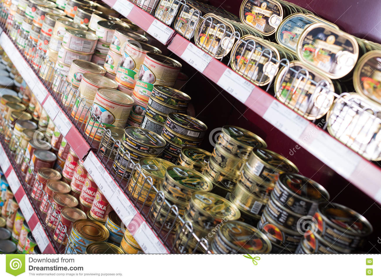 Canned meat and fish products in russian food store for Fishpond products