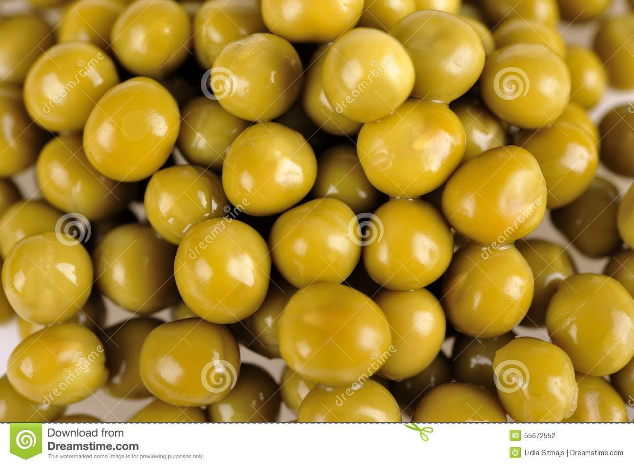 Canned Peas Stock Photo - Image: 55672552