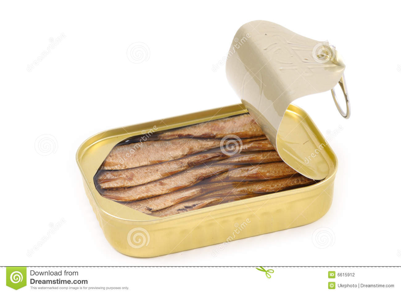 Canned Sardines from above