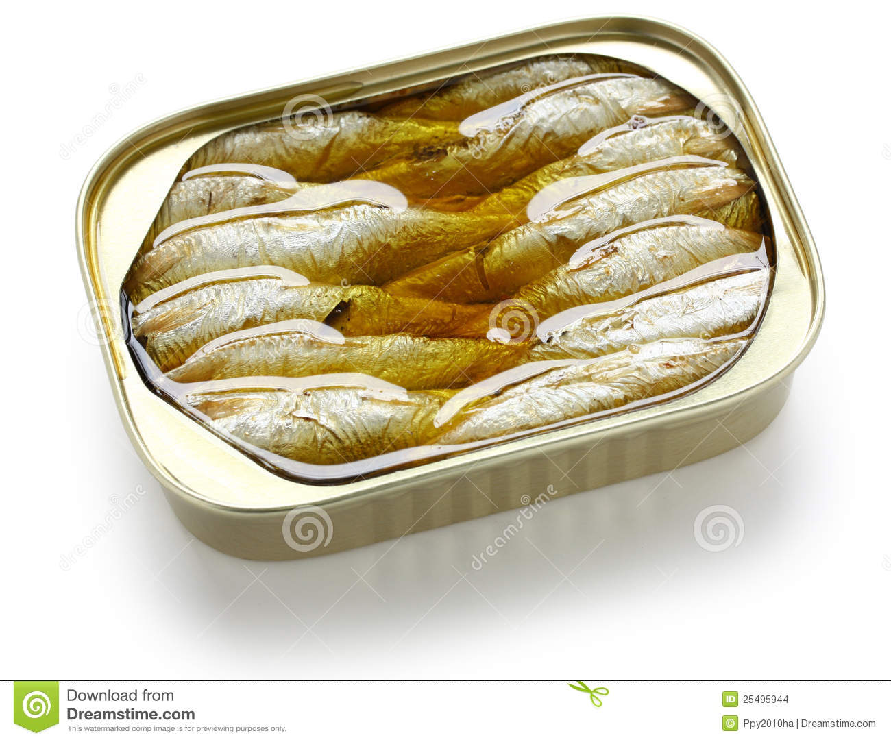 Canned Sardines In Oil Stock Images - Image: 25495944