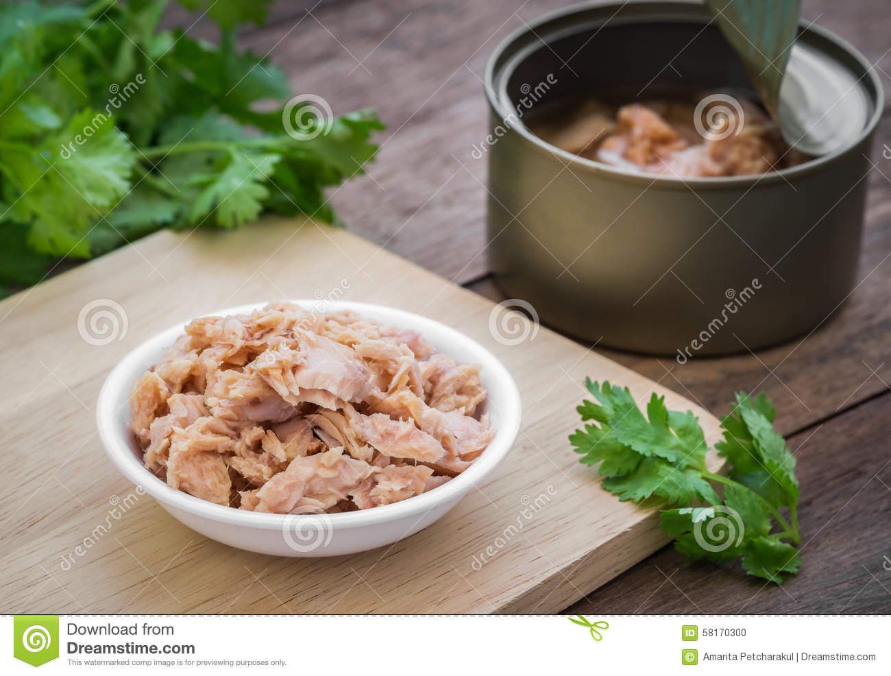 Canned tuna fish in bowl stock photo image of fish fast for Tuna fish can