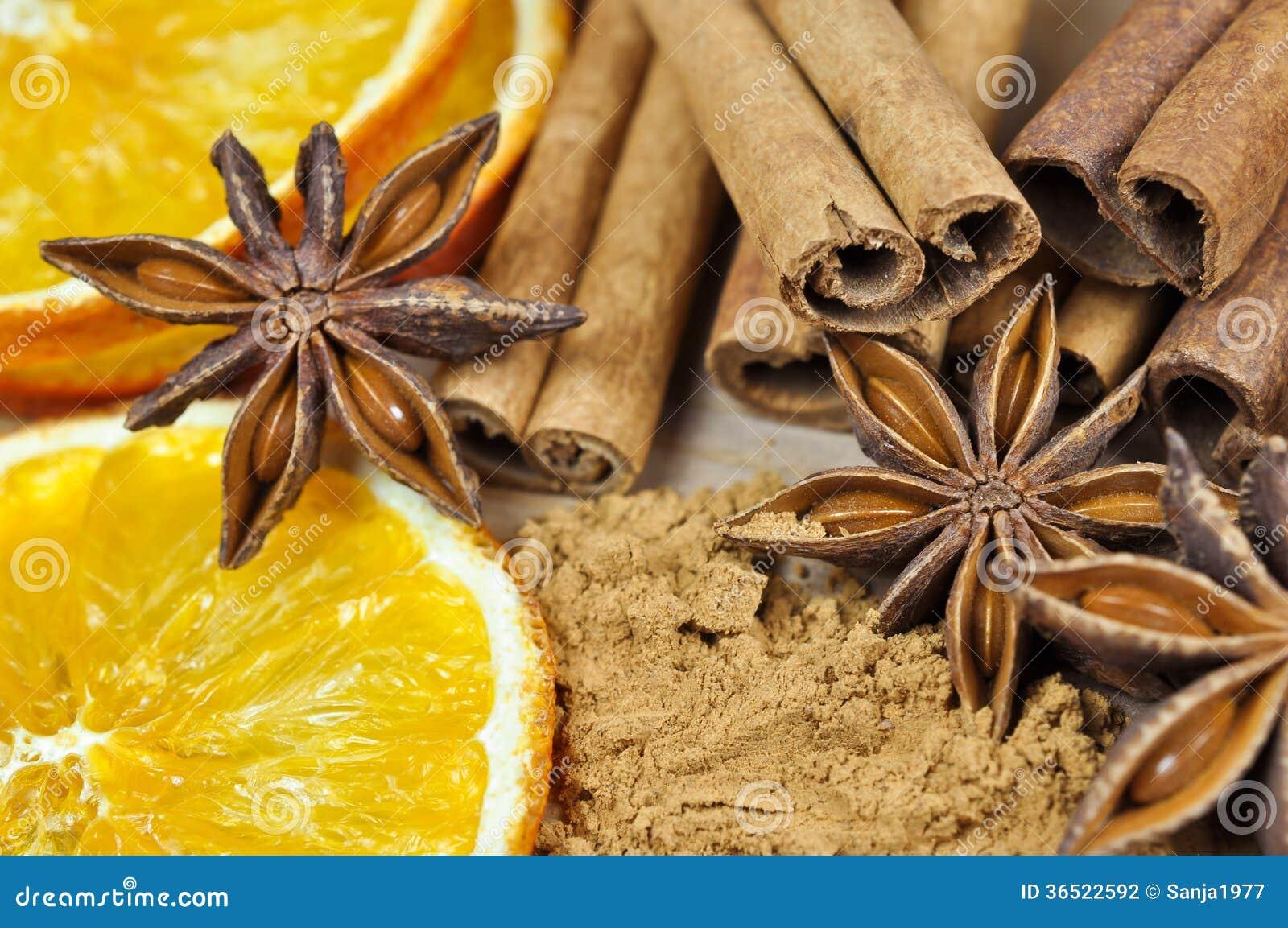 Cannelle, anis et orange sèche