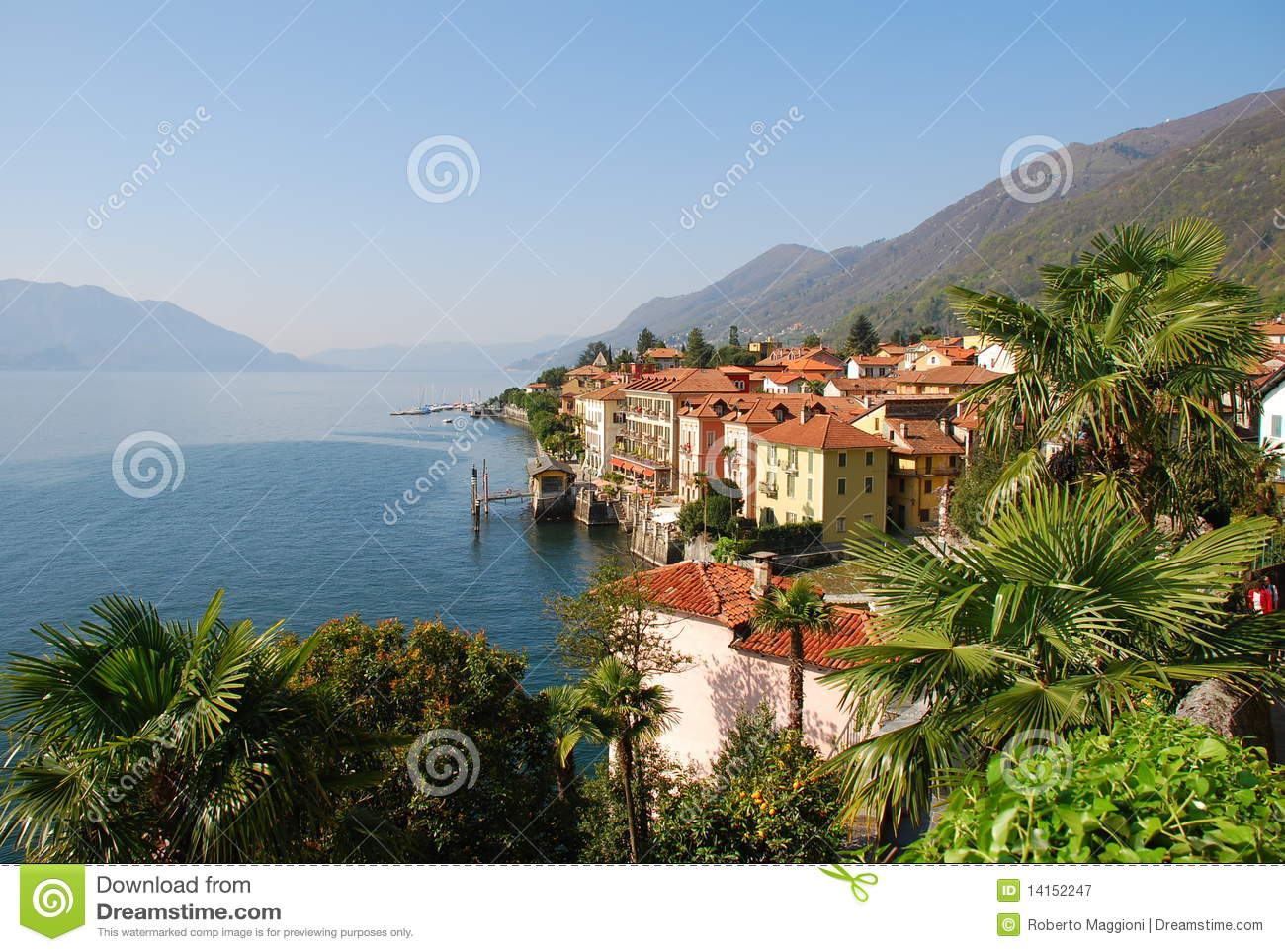 cannero riviera at lago maggiore italy stock image. Black Bedroom Furniture Sets. Home Design Ideas