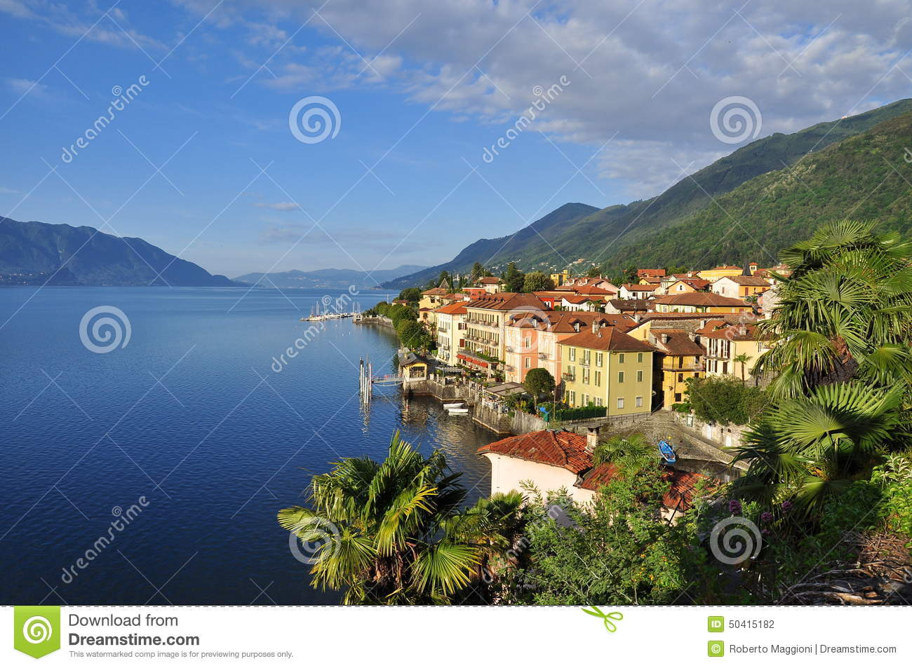 cannero riviera town at lake lago maggiore italy. Black Bedroom Furniture Sets. Home Design Ideas