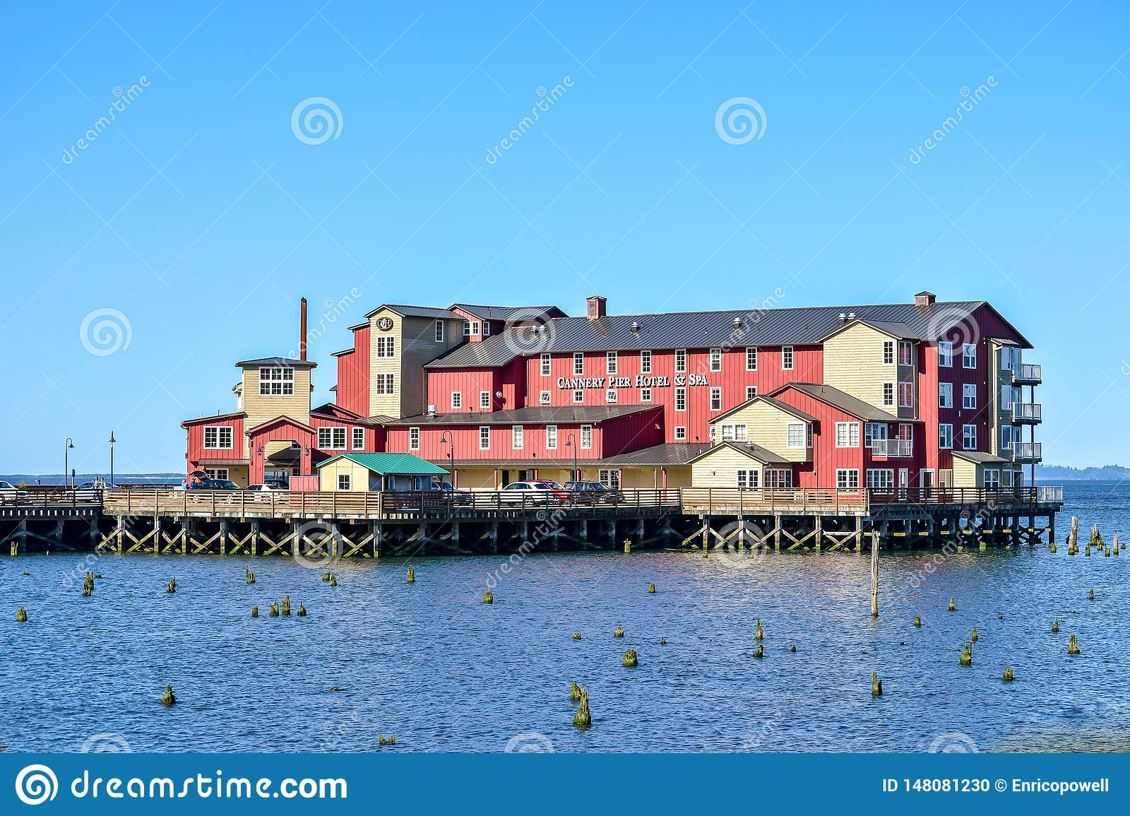 Cannery Pier Hotel and Spa on Columbia River in Astoria